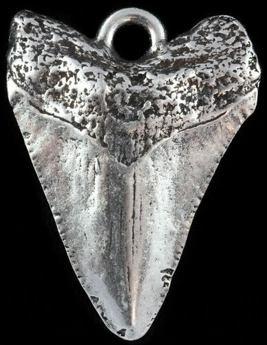 Replica Megalodon Tooth Metal Pendant  - Photo 1