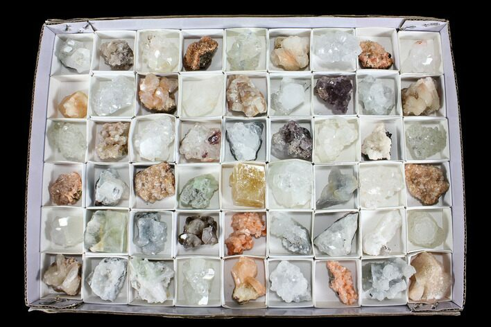 Mixed Indian Mineral & Crystal Flats - 54 Pieces - Photo 1