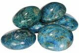 "2.5"" Blue Apatite Palm Stone - 1 Piece - Photo 2"