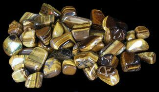 "1"" - 1.4"" Tumbled Tiger's Eye - 1 Piece"