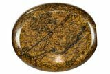 "2"" Polished Bronzite Worry Stone  - Photo 3"