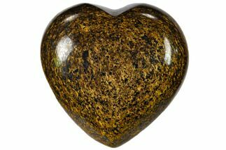 "1.4"" Polished Bronzite Heart"