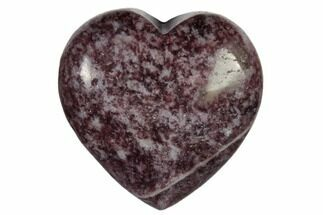 "1.4"" Polished Lepidolite Heart"