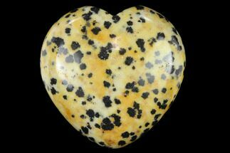 "1.4"" Polished Dalmation Jasper Heart"