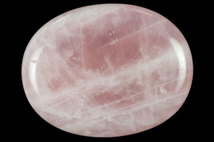 "1.8"" Polished Rose Quartz Worry Stone  - Photo 1"