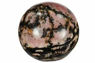 "1.2"" Polished Rhodonite Sphere"