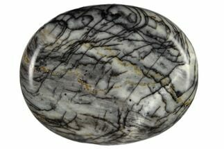 "1.8"" Polished Zebra Jasper Worry Stone"