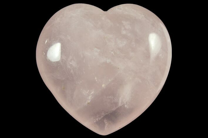 "1.6"" Polished Rose Quartz Heart - Photo 1"