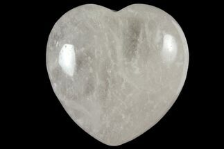 "1.6"" Polished Clear Quartz Heart"