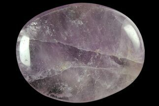 Polished Chrevron Amethyst Flat Pocket Stones