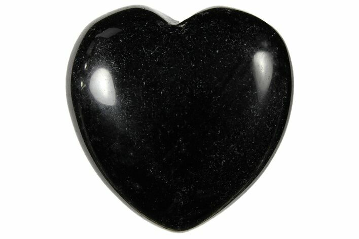 "1.4"" Polished Black Obsidian Heart - Photo 1"