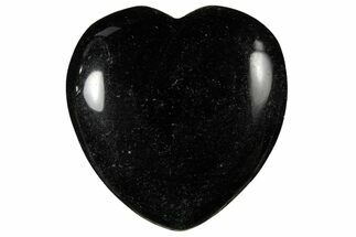 "1.6"" Polished Black Obsidian Heart"