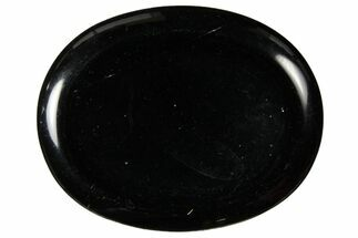 "1.8"" Polished Black Obsidian Worry Stone"