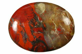 "1.8"" Polished Brecciated Red Jasper Pocket Stone"