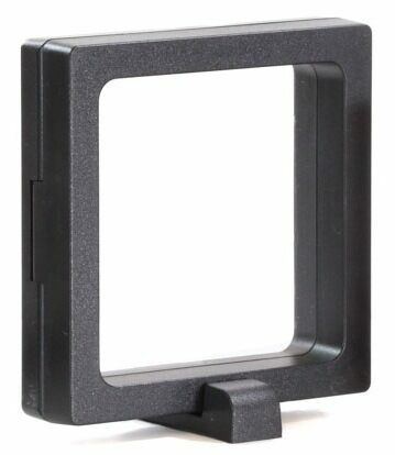 "3.5"" (Medium) Floating Frame Display Case With Stands - Black - Photo 1"