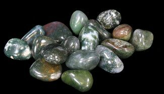 Bulk Polished Green Moss Agate - 8oz. (~ 20pc.)