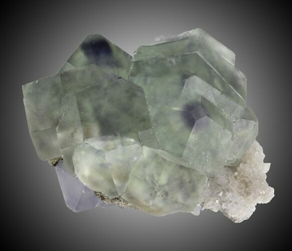 "2"" Fluorite and Quartz, Fujian Province, China"