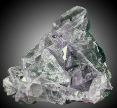 "3.4"" Purple/Green Fluorite on Aragonite & Quartz - China For Sale, #31856"