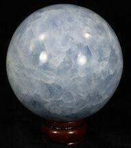 "Buy 4"" Polished Blue Calcite Sphere - #32128"