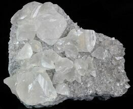 "Buy 4.3"" Gemmy Calcite Crystals On Matrix - Meikle Mine, Nevada - #33715"