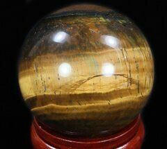"Top Quality 2.45"" Polished Tiger Iron (Tiger's Eye) Sphere For Sale, #33638"
