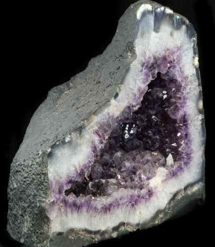 "14"" Amethyst Geode With Calcite (53 lbs) - Cyber Monday Special!"
