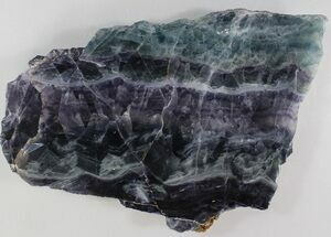"6.7"" Polished Fluorite Slab - Purple & Green For Sale, #34865"