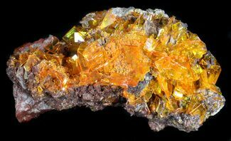 "Buy 3.3"" Bright Orange Wulfenite Cluster - Rowley Mine, AZ - #34891"