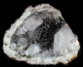 Buy Pyrolusite Spray In Quartz Geode - Exceptional Specimen - #34894