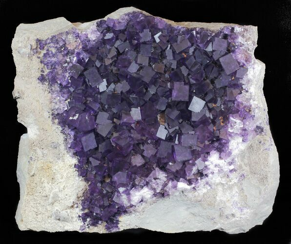 "15"" Purple, Cubic Fluorite Plate - Cave-in-Rock, Illinois"