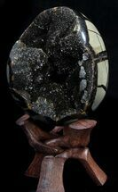 "Buy 4.6"" Septarian ""Dragon Egg"" Geode - Crystal Filled - #37447"
