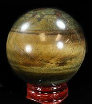 "Buy 2.1"" Polished Tiger's Eye Sphere - #37684"