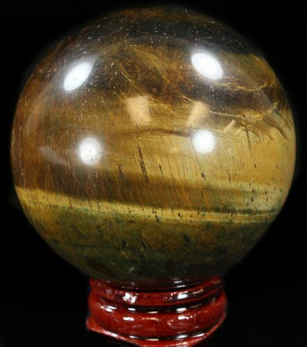 "2.3"" Polished Tiger Iron (Tiger's Eye) Sphere"