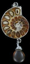 Fossil Ammonite Pendant - 110 Million Years Old For Sale, #38153