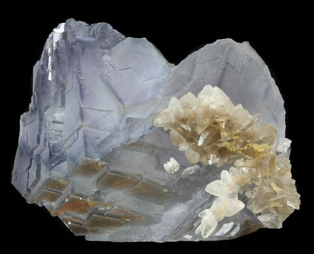 "2.2"" Fluorite Cube Cluster with Calcite Crystals- Pakistan"