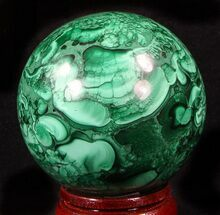 "Buy Gorgeous 2.65"" Polished Malachite Sphere - Congo - #39397"