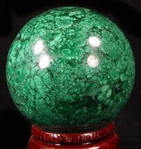 "Buy Gorgeous 2.45"" Polished Malachite Sphere - Congo - #39403"