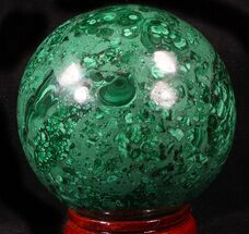 "Buy Brilliant, 3.45"" Polished Malachite Sphere - Congo - #39406"