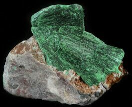 "Buy 1.1"" Silky, Fibrous Malachite Crystals on Matrix - Morocco - #42016"