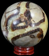"3"" Polished Septarian Sphere - With Stand For Sale, #43856"