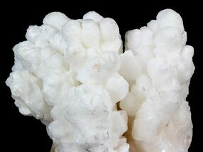 "3.3"" White Aragonite and Calcite Stalctite Formation - Fluorescent For Sale, #44978"