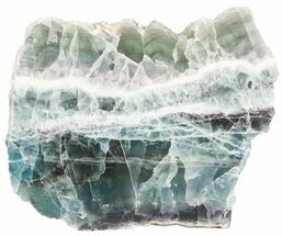 "7"" Polished Fluorite Slab - Purple, Green, White For Sale, #45440"