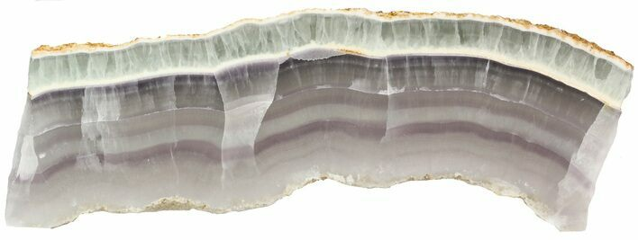 "13 x 4"" Polished Fluorite Slab - Purple, Green, White"