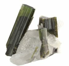 Buy Beautiful, Green Tourmaline Crystals in Quartz - Pakistan - #45916