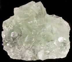 "4.0"" Green Fluorite Crystal Cluster - China For Sale, #46157"