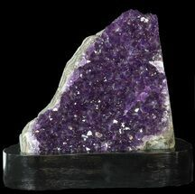 "5.2"" Dark Purple Amethyst Cluster On Wood Base For Sale, #46262"