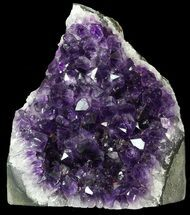 "5.2"" Dark Purple Amethyst Cluster On Wood Base For Sale, #46265"