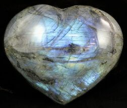 "Buy Bargain, 3.1"" Flashy Polished Labradorite Heart - #47260"