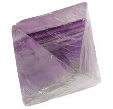 "1.83"" Fluorite Octahedron - Banded Purple/Green For Sale, #48266"