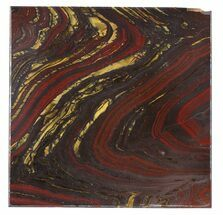 "Buy 4"" Tiger Iron Stromatolite ""Shower Tile"" - 2.7 Billion Years Old - #48814"